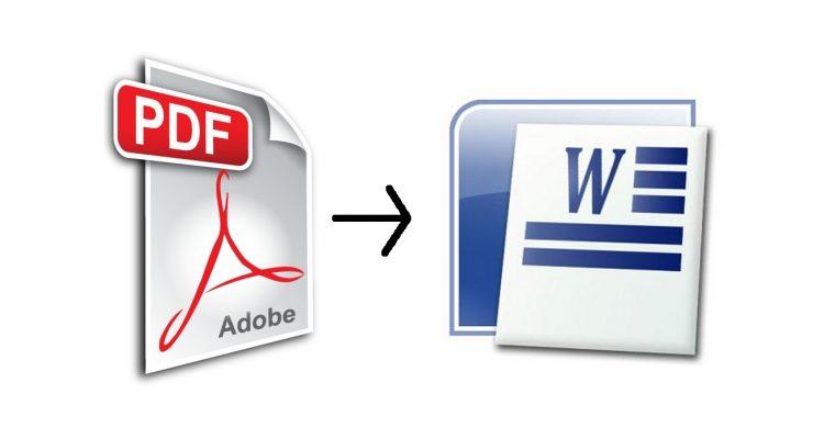 Comment mettre un pdf en word ?